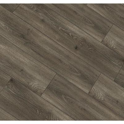 Aged Gunmetal Oak 12 mm Thick x 8.03 in. Wide x 47.64 in. Length Laminate Flooring (15.94 sq. ft. / case)