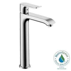 Metris E 200 Single Hole Single-Handle High-Arc Bathroom Faucet in Chrome