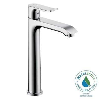 Metris E 200 Single Hole Single-Handle High-Arc Bathroom Faucet in Chrome
