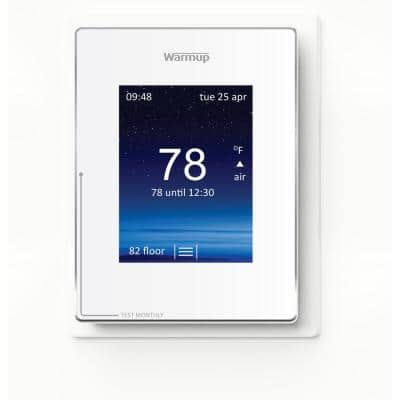Cloud White Smart Thermostat for Underfloor Heating System