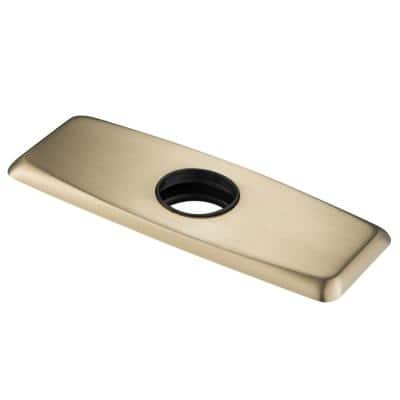 1.25 in. Stainless Steel Bathroom Faucet Single Hole Deck Plate in Brushed Gold