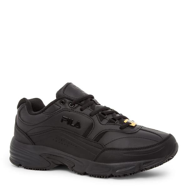 Fila Men S Memory Workshift Slip Resistant Athletic Shoes Soft Toe Black Size 11 5 W 1sgw0002 The Home Depot
