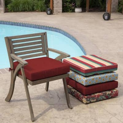 Ruby Leala Texture Square Outdoor Seat Cushion