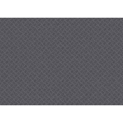 Black 36 in. x 48 in. Rubber Deck Plate Mat