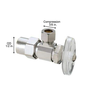 1/2 in. CPVC Inlet x 3/8 in. Compression Outlet Multi-Turn Angle Valve