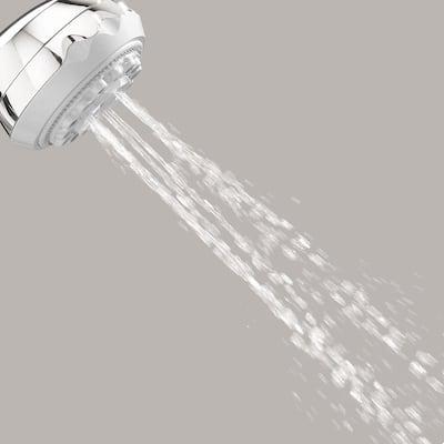 3-Spray 3.6 in. Single Wall Mount Fixed Shower Head in Brushed Nickel