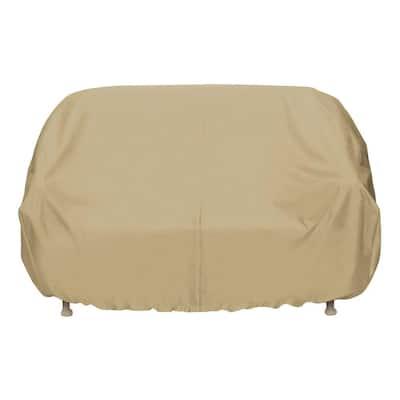 102 in. Khaki Oversized Patio Sofa Cover