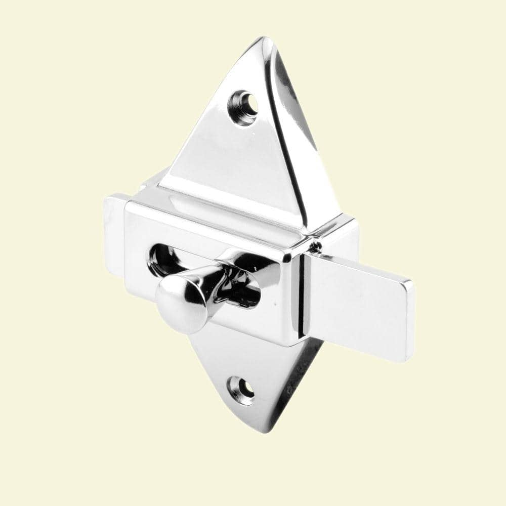 Prime Line 2 3 4 In Hole Centers Chrome Slide Latch 650 6596 The Home Depot