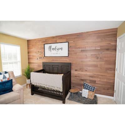 5/16 in. x 46 in. Multi-Width Multi-Color Walnut Wood Kiln Dried Kit Planks (10 sq. ft.)