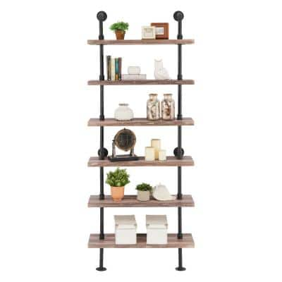 SALE BLACK FLOATING GLASS WALL SHELF BATHROOM//KITCHEN//LIVING ROOM//HALL STORE#346