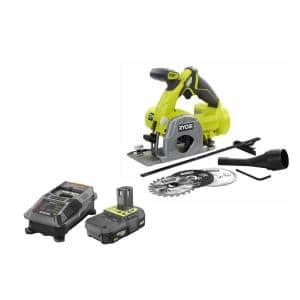 18-Volt ONE+ Multi-Material Saw with Lithium-Ion 2.0 Ah Battery, Dual Chemistry IntelliPort Charger
