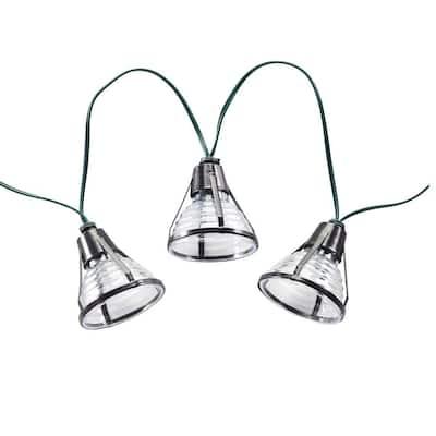 Bente Lantern Solar Integrated LED String Light Set with Stake (20-Piece)