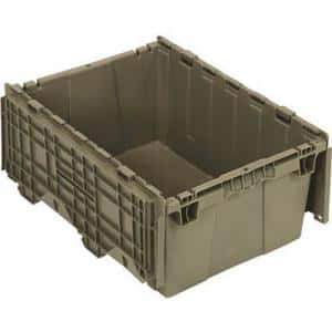 9.5 Gal. - 15 in. Attached Lid Distribution Bin, Gray (1-ctn)