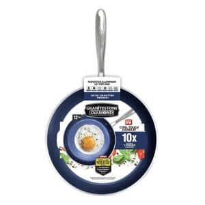 Classic Blue 12 in. Aluminum Ultra-Durable Non-Stick Diamond Infused Fry Pan