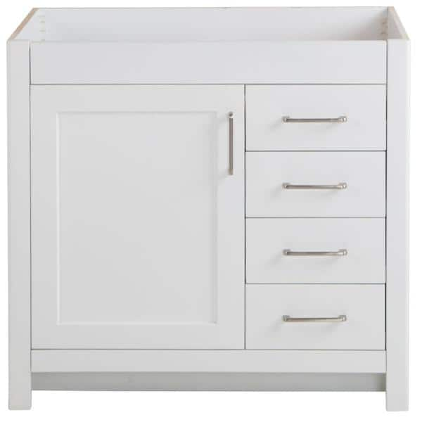 Home Decorators Collection Westcourt 36 In W X 21 In D X 34 In H Bath Vanity Cabinet Only In White Wt36 Wh The Home Depot