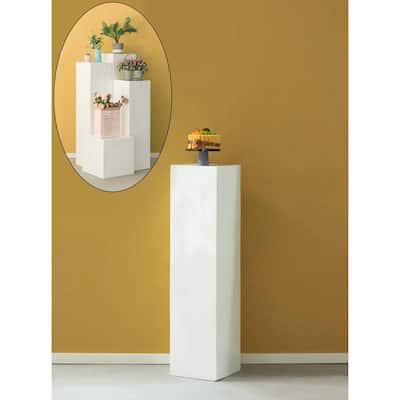 12 in. W x 47.2 in. H Display Cube Decorative Pillar Column Flower Stand Wedding Pedestal