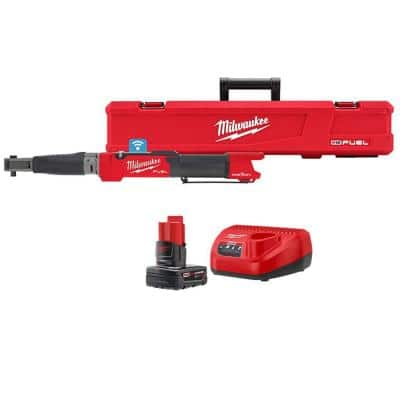 M12 FUEL One-Key 12-Volt Lithium-Ion Brushless Cordless 3/8 in. Digital Torque Wrench with 4.0 Ah Battery