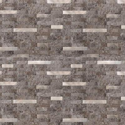 DIP Waterstone Silver Tile 11.5 in. x 11.5 in. Self-Adhesive PVC Backsplash (10 pack)