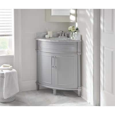 Corner Bathroom Vanities With Tops Bathroom Vanities The Home Depot