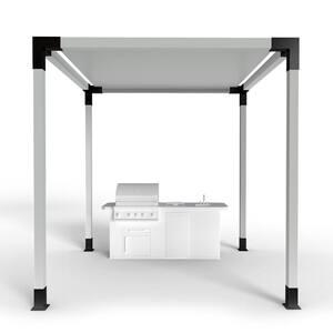 12 ft. x 12 ft. Modular Sizing Steel Brackets Pergola Kit