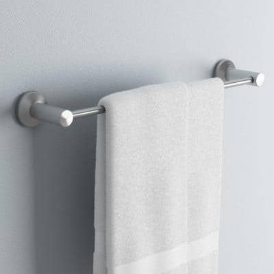 Nirvana 24 in. Towel Bar in Satin Nickel