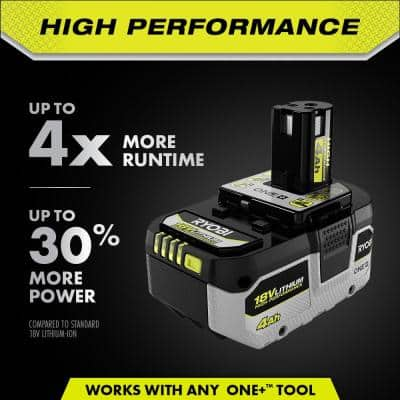 ONE+ 18V HIGH PERFORMANCE Lithium-Ion 4.0 Ah Battery and Charger Starter Kit