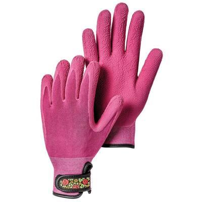 Garden Bamboo Size 6 Spandex Fuchsia Gloves