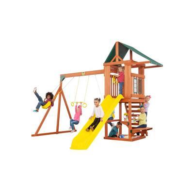 Cedar Cottage Complete Wooden Playset