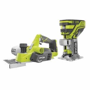 18-Volt ONE+ Lithium-Ion Cordless 3-1/4 in. Planer and Fixed Base Trim Router w/Tool Free Depth Adjustment (Tools Only)
