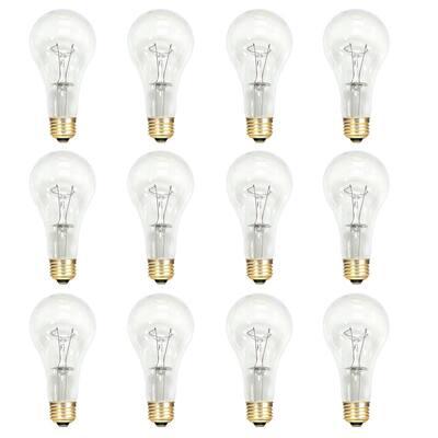 150-Watt A21 Dimmable Warm White Light Incandescent Light Bulb (12-Pack)