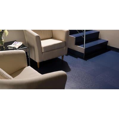 Slate Design 19.69 in. x 19.69 in. Black Dry Back Rubber Tile Flooring