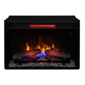 26 in. Infrared Quartz Electric Fireplace Insert with Flush-Mount Trim Kit