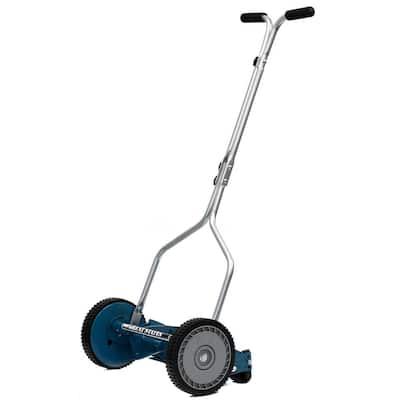14 in. 4-Blade Manual Walk Behind Reel Lawn Mower