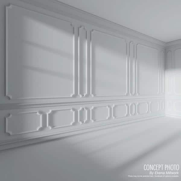Ekena Millwork 1 2 In X 7 8 In X 94 1 2 In Polyurethane Classic Panel Moulding Pml00x00cl The Home Depot