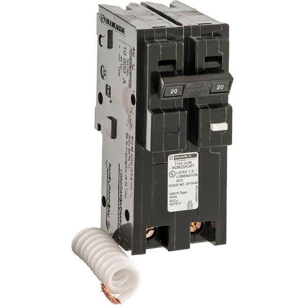 Square D FH FH26020AC 20 amp 2 pole 600v Circuit Breaker GRAY
