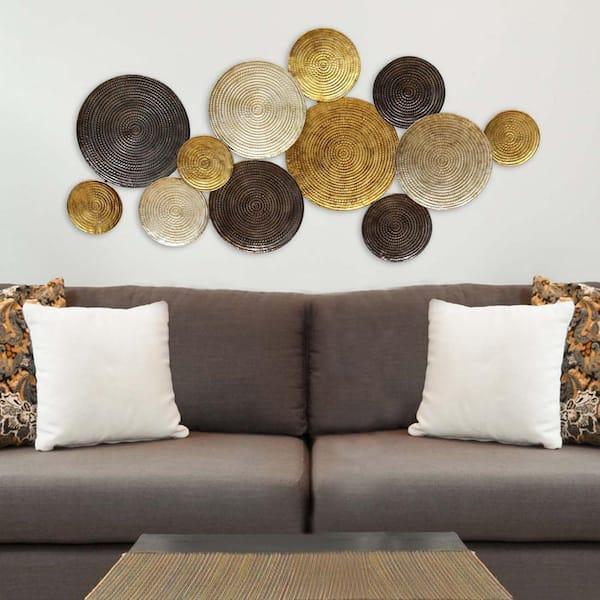 Stratton Home Decor Multi Circles Metal, Round Wall Decor Metal