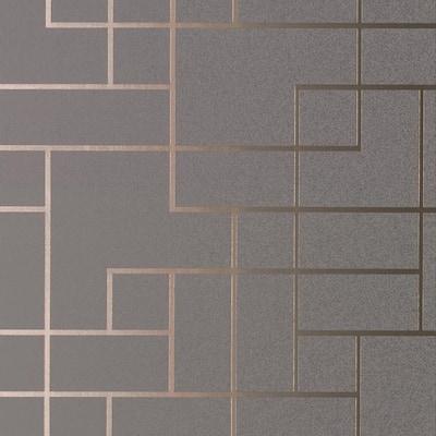 Geometrics Dark Grey Vinyl Peelable Roll (Covers 56.4 sq. ft.)