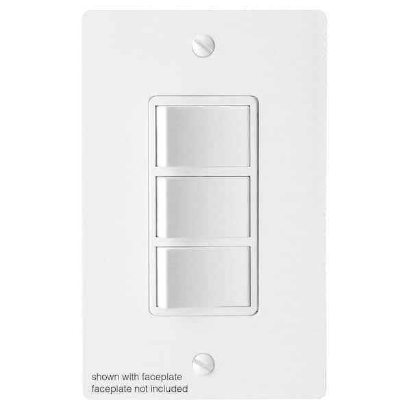 3 Function Rocker Combination Switch In, Bathroom Heat Light Fan Switch