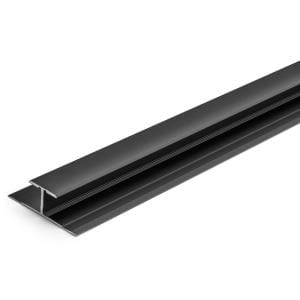 8 mm Dark Bronze 1-1/4 in. x 84 in. Aluminum T-Shape Floor Transition Strip