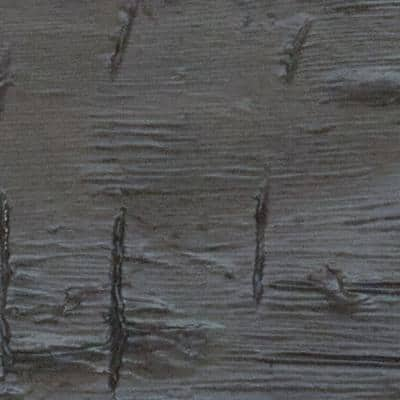 SAMPLE - 1 in. x 6 in. x 6 in. Burnished Cedar Polyurethane Hand Hewn Faux Wood Moulding
