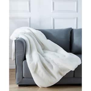 Cassilda Luxury Chinchilla Faux Fur Throw Blanket (50'' x 60'')