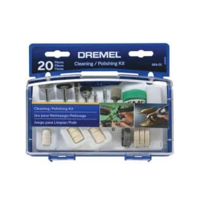 Rotary Tool Cleaning/Polishing Accessory Set (20-Piece)