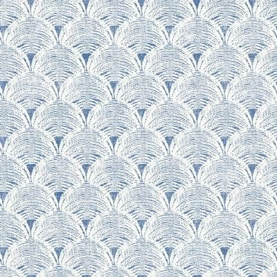 Santiago Blue Scalloped Blue Wallpaper Sample