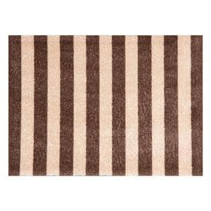 In-Home Washable/Non-Slip Cabana Taupe 2 ft. 3 in. x 1 ft. 5 in. Area Rug & Mat