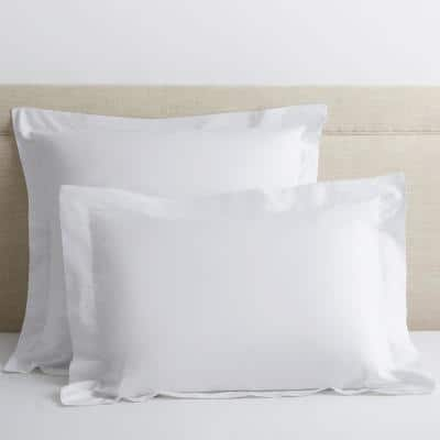 White Solid 400-Thread Count Supima Cotton Percale King Sham