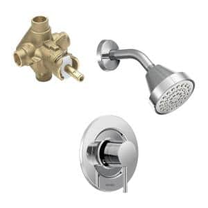 Align Single-Handle 1-Spray Shower Faucet in Chrome (Valve Included)