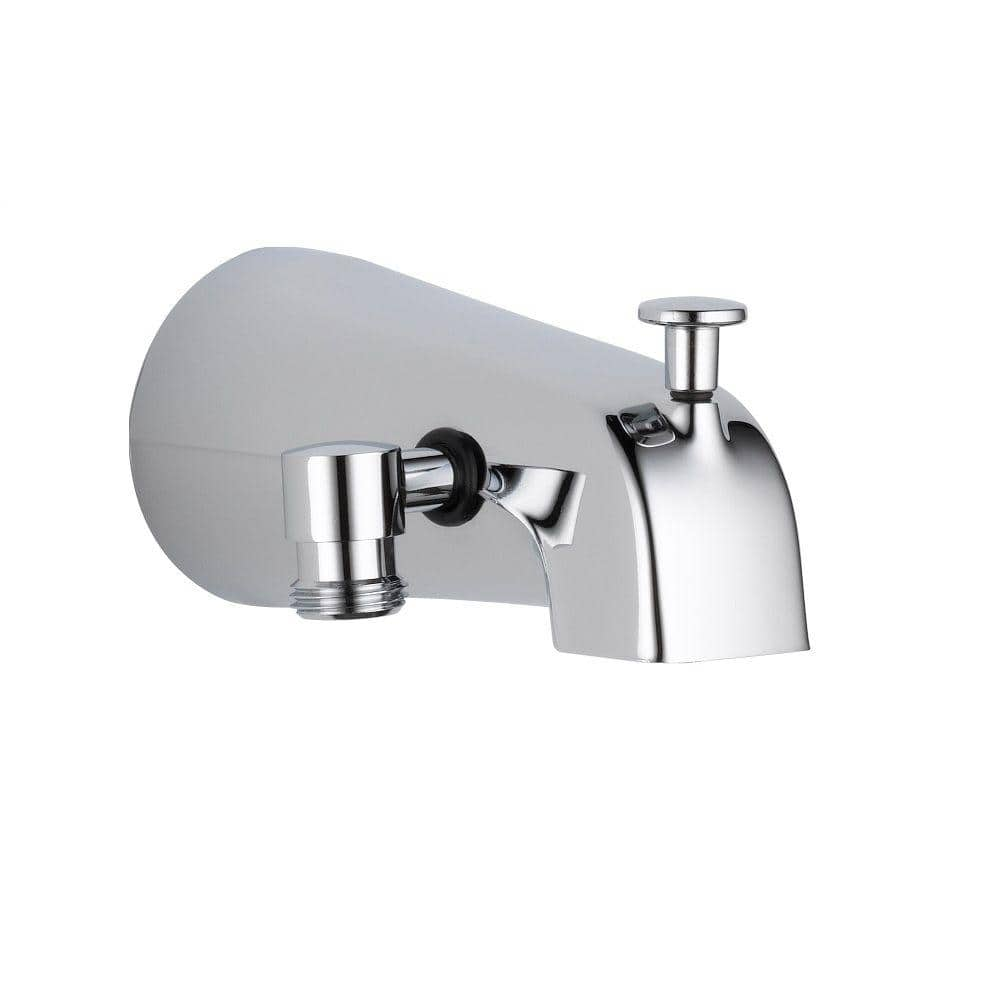 delta 5 38 in long pull up diverter tub spout in chrome u1072 pk the home depot