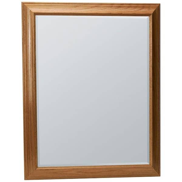 Framed Vanity Mirror In Oak Mag3036 Oa, Oak Framed Bathroom Mirrors