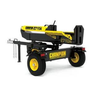 27 Ton 224 cc Gas Powered Hydraulic Wood Log Splitter with Vertical / Horizontal Operation and Auto Return