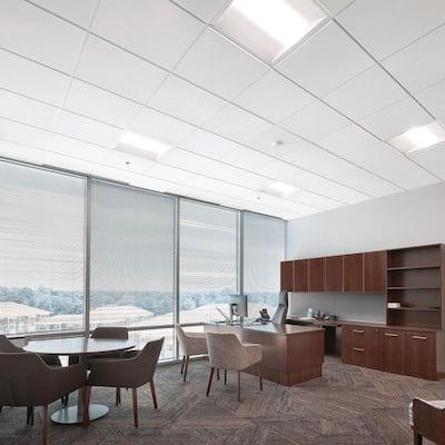 Yuma White 2 ft. x 2 ft. Tegular Ceiling Tile (64 sq. ft. / Case)